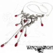 ALCHEMY GOTHIC Bleeding Heart Necklace | Gothic Jewellery | Wings in the Night